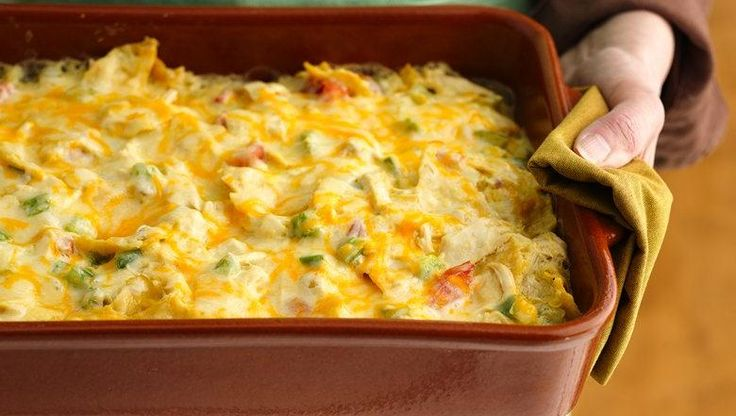 58% less sat fat • 50% less fat • 27% fewer calories than the original recipe. Smart ingredient changes keep the flavor but cut the fat by 11 grams per serving in this Mexican-inspired easy-mix oven bake.