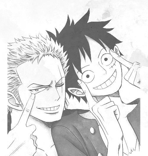 Instead of luffy experiencing further pain, zoro took it upon himself to sacrifice himself. Zoro and Luffy   One piece comic, One piece pictures, One ...