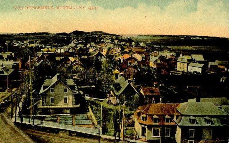 Le cœur de Saint-Thomas | Carte postale des années 1900; photo prise du haut de l'église Saint-Thomas, à #Montmagny.