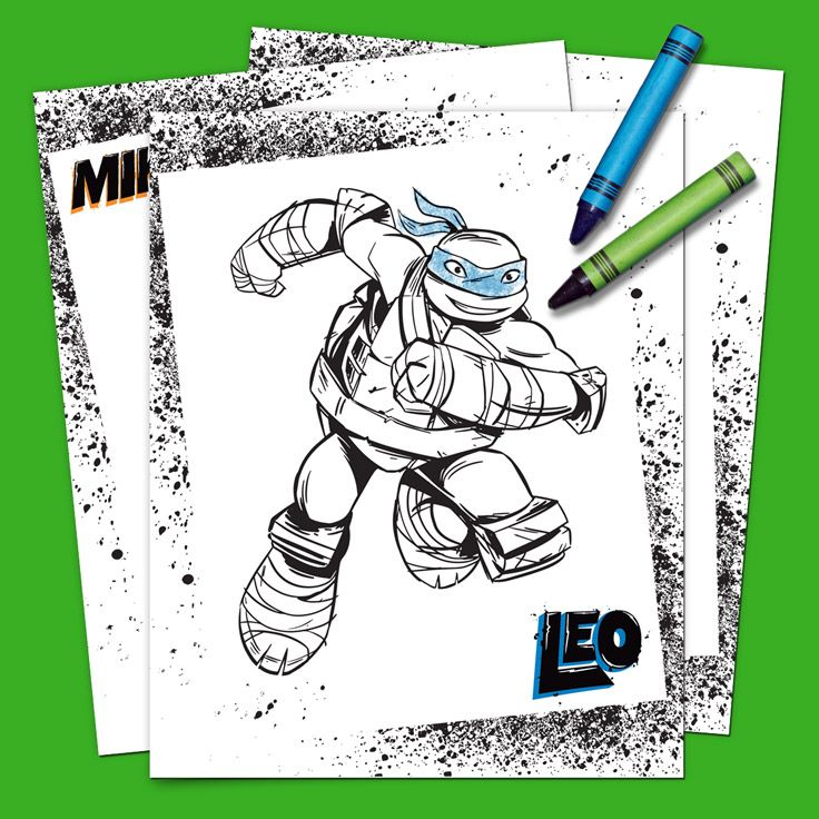 tmnt coloring pages on pinterest - photo#29