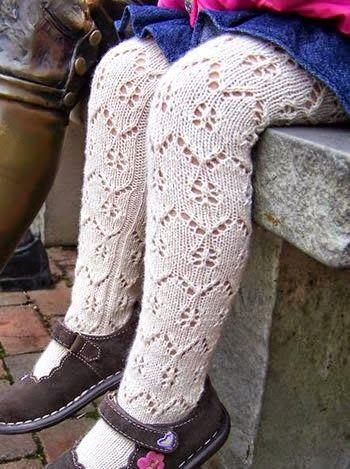 Модели вязания: Детские колготки спицами