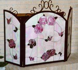 193 best stained glass fireplace screens images on Pinterest ...
