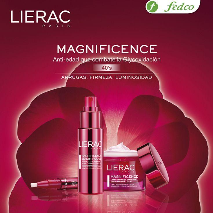Conoce los productos de la línea MAGNIFICENCE de LIERAC, perfectas para las personas que están en los 40 años y quieren cuidar su piel.  ¡No dejes que las líneas de expresión sean dueñas de tu rostro!