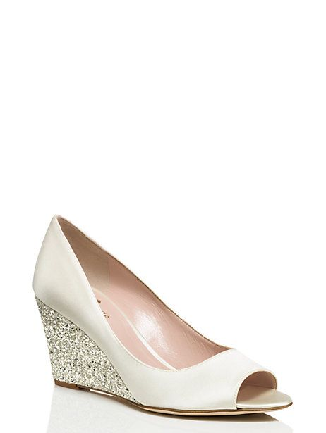wedge wedding shoes for bride kate spade radiant wedges wedges wedding shoes and wedding 1238