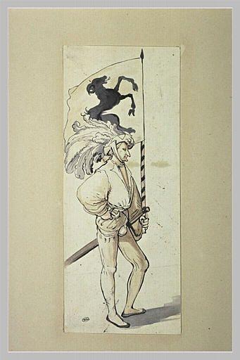 Soldat portant la bannière de Schaffhouse