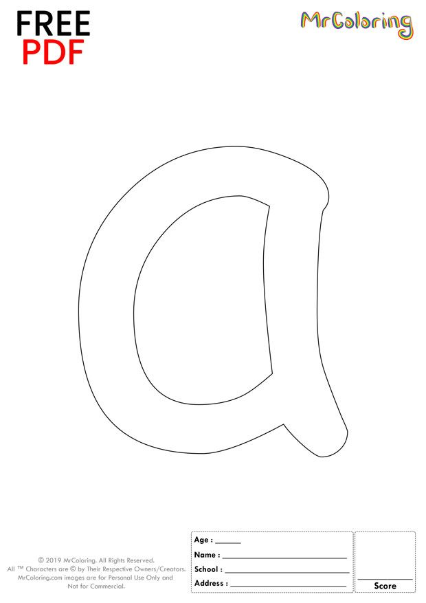Alphabet Letter A Coloring Pages Lowercase Cartoon For Kids Alphabet Lettera Colo Letter A Coloring Pages Lettering Alphabet Free Printable Alphabet Letters