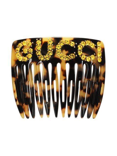 a39765873 Gucci Crystal Gucci Hair Comb - Farfetch | HATS & SCARVES // ACCESSORIES |  Gucci, Hair comb, Fashion