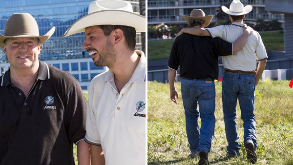 Cowboys and best friends #pierreandjamie #RaceCDA #CTV