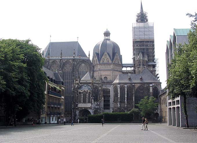 Exterior and Landscape, Aachen Palace and Royal Church of St. Mary, Aachen.
