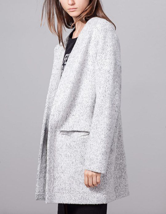 At Stradivarius you'll find 1 Knitted coat with zip detail for woman for just 179.9 Israel . Visit now to discover this and more ALL.