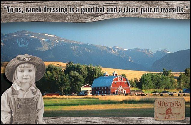 Montana Film Office promotional postcard.