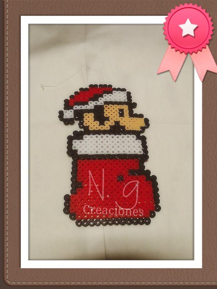 Adorno de Navidad Súper Mario Bros. Hama beads