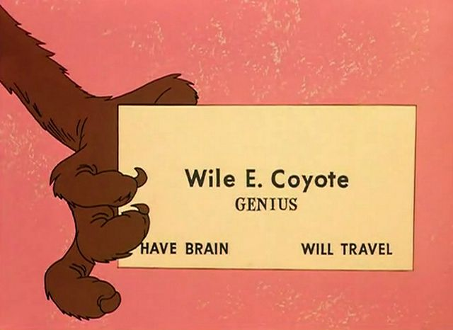 business card.Business Cards, Saturday Mornings Cartoons, Coyotes, Looney Tunes, Funny Commercials, Childhood, Call Cards, Roads, Cartoons Character
