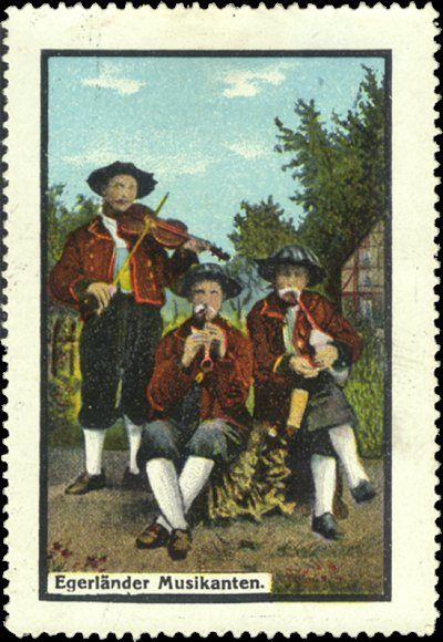 """For comments about """"cinderellas"""". This and the next two stamps are quite interesting because of their origin. Egerland is a region in the far west of what is now the Czech Republic. The population of Egerland was at one time predominately Germanic, and these three stamps reflect that heritage."""