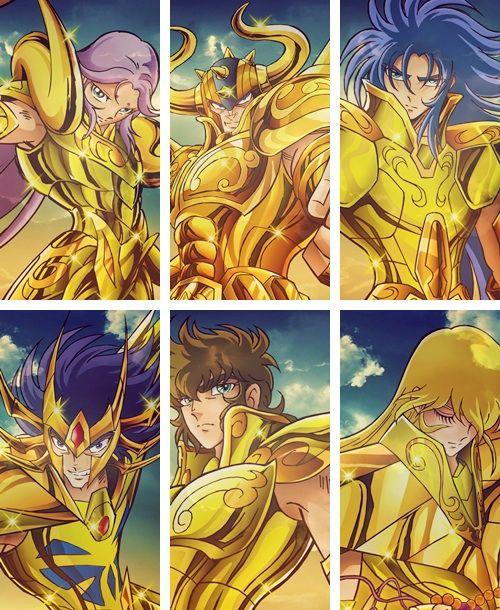 Saint Seiya - Gold Saints Aries Mu, Taurus Aldebaran, Gemini Saga, Cancer Deathmask, Leo Aiola & Virgo Shaka