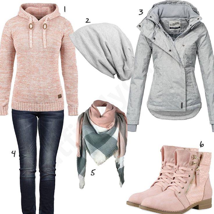 Hellgrau-Rosa Outfit für Damen mit Sublevel Jacke (w0611 – Bine