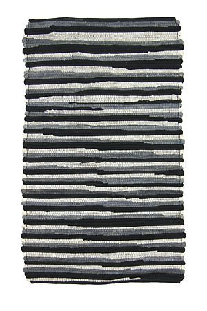 """This chindi bath mat has been hand-woven in lines with 100% cotton to create a stripe design with textured tonal finish.<div class=""""pdpDescContent""""><BR /><b class=""""pdpDesc"""">Dimensions:</b><BR />L80xW50 cm<BR /><BR /><b class=""""pdpDesc"""">Fabric Content:</b><BR />100% Cotton<BR /><BR /><b class=""""pdpDesc"""">Wash Care:</b><BR>Gentle cycle cold wash</div>"""