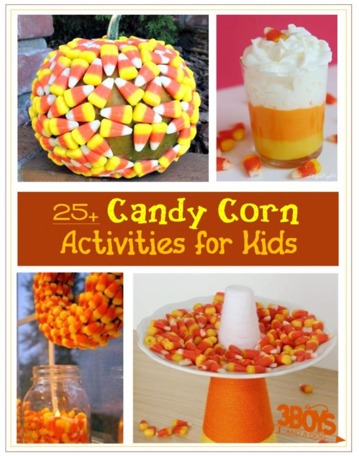Over 25 candy corn crafts and activities for kids