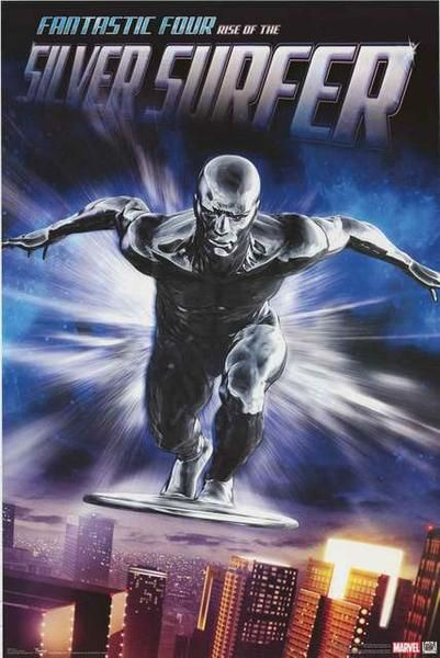 A fantastic poster of the Silver Surfer from the Marvel Comics movie Fantastic Four: Rise of the Silver Surfer! Published in 2007. Fully licensed. Ships fast. 22x34 inches. Need Poster Mounts..? bm891
