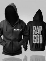 Rap God Eminem hoodie for men The Marshall Mathers LP 2 black hoodie
