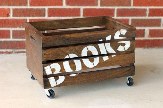 #DIY Wooden Book Crate