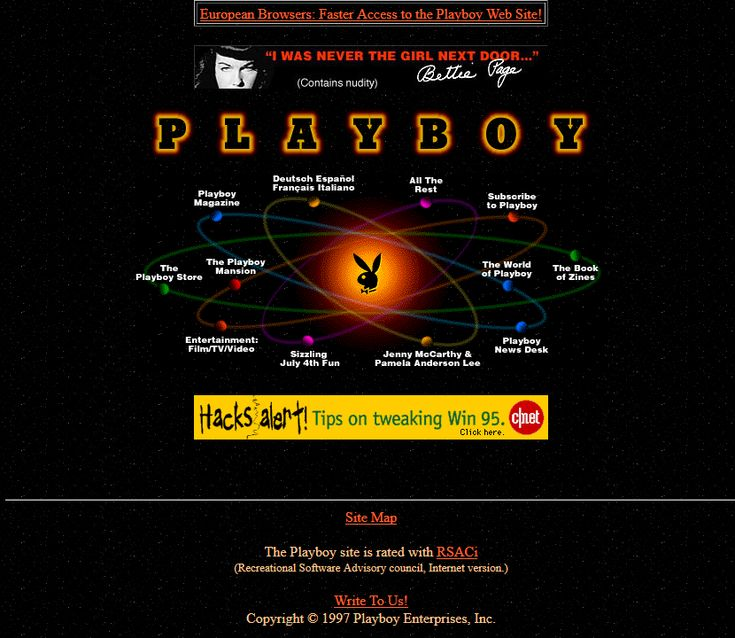 Playboy website 1997