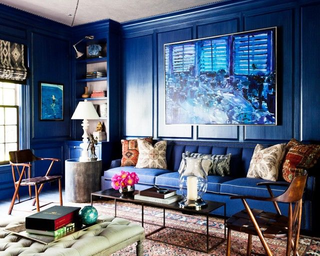 Hang large scale artwork as a way to make your interiors look more expensive & upscale - via @mydomaine