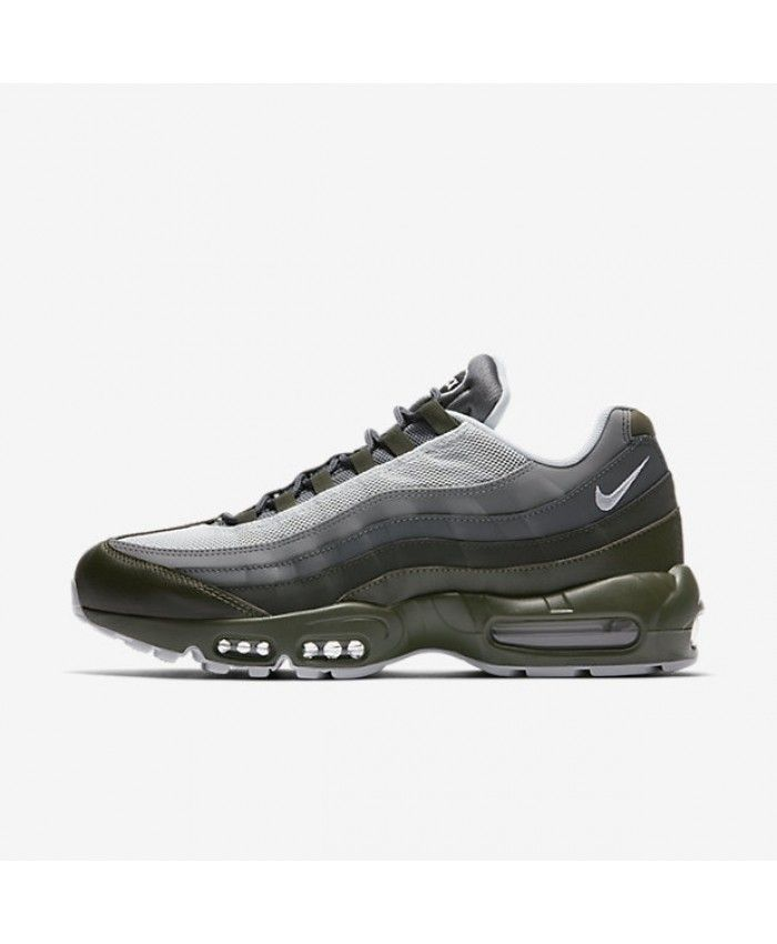 newest collection 445ad 4c507 ... spain nike air max 95 mens essential cargo khaki deep pewter dark grey  pure platinum shoes