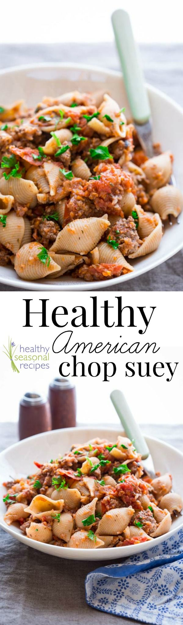 Blog post at Healthy Seasonal Recipes : Healthy American Chop Suey made with grass fed-beef, lots of healthy veggies and whole-grain pasta. This from-scratch, family favorite recip[..]