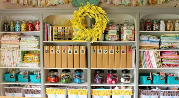 We can't get over this crazy-pretty (and super-organized) space, so we asked the owner how she created it. #crafts