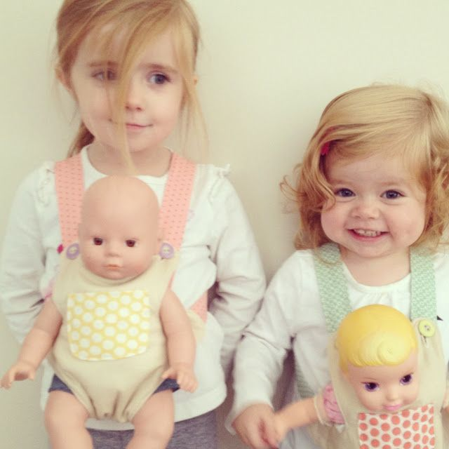 craftiness is not optional: bear/doll carriers.  I need to make this!