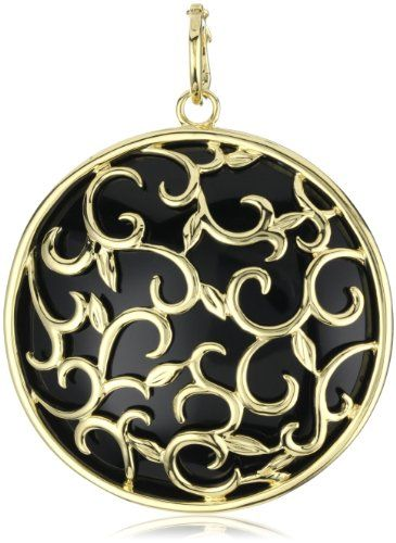 "Katie Decker ""Ivy"" 18k Yellow Gold Black Onyx Vine Pendant Necklace Meet Katie Saturday, April 13th at David Gardner's in College Station"
