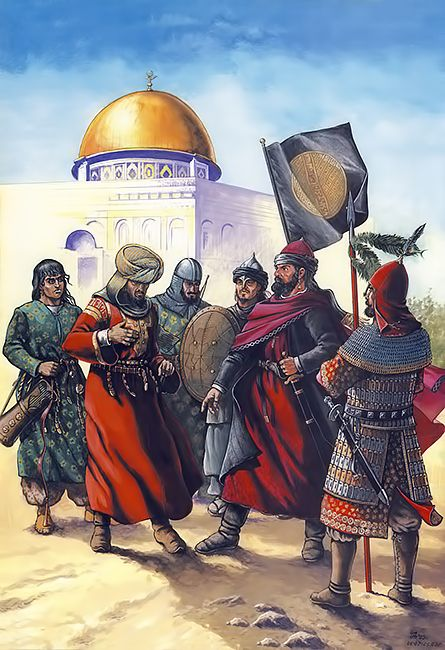 The Abbasid Caliph giving orders to a warlord, Jerusalem