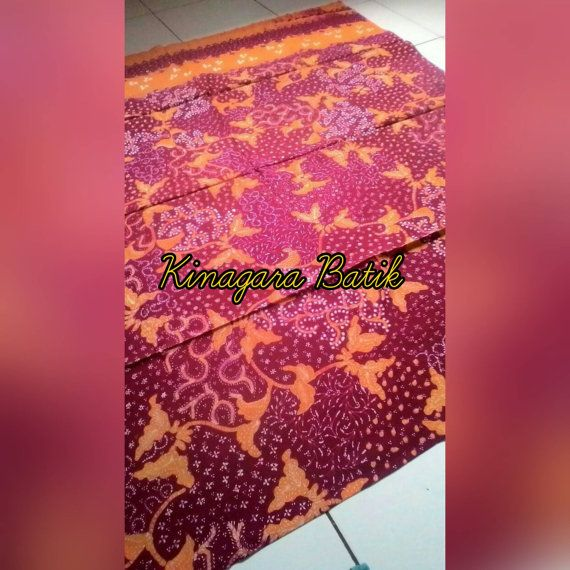 Check out this item in my Etsy shop https://www.etsy.com/listing/488200972/hand-written-red-orange-indonesia-batik
