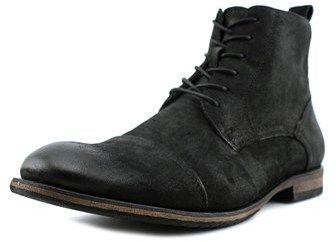 Aldo Waldram Men Round Toe Leather Black Boot.