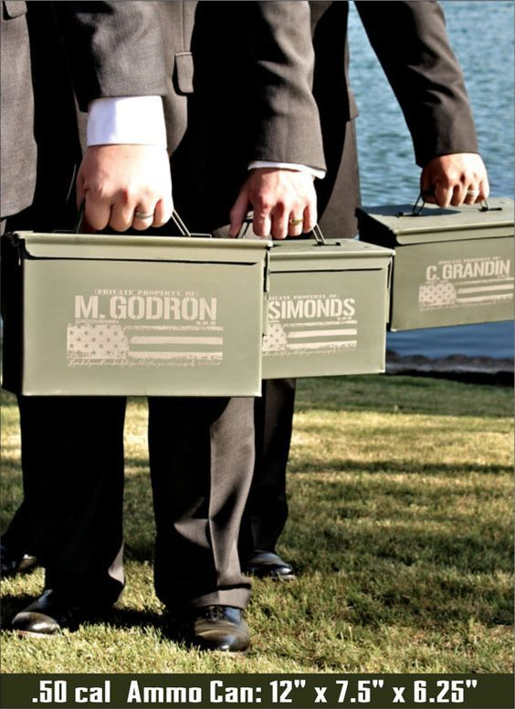 Groomsmen Gift Set Groom Gift From Bride Ammo Box Wedding Officiant