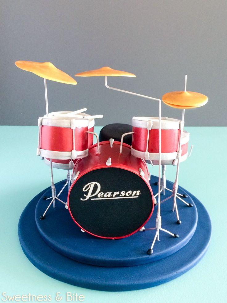 drum cake topper | Drum cake, Drum birthday cakes, Music ...
