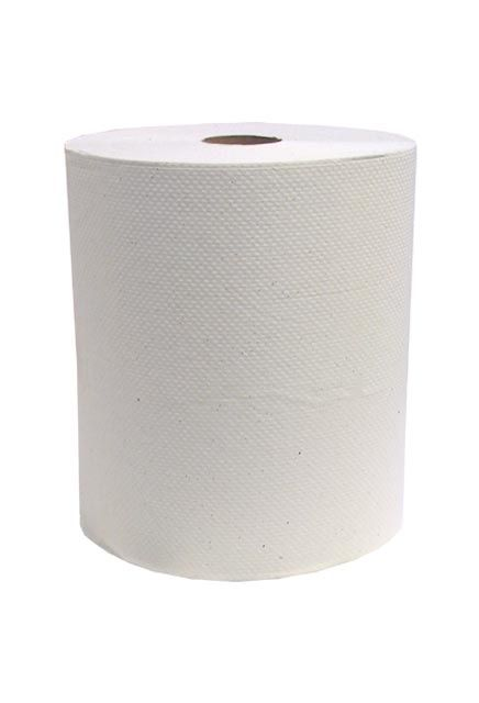 Decor, 425' White roll paper towell: 12 rolls of 425', Paper towell