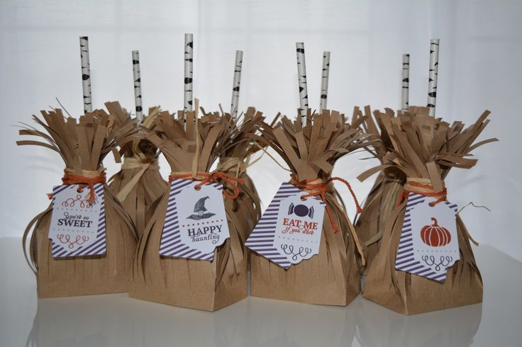 Witches brooms for Halloween treats or thanksgiving treats - it's all in how you tag them and dress them up!