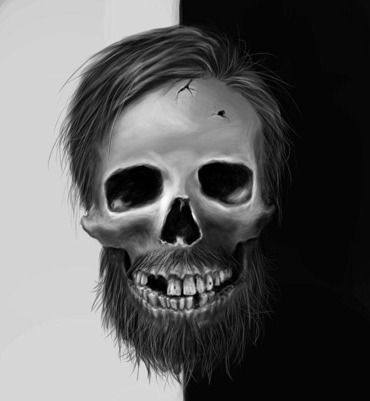 #skeleton #beard #selfportrait #digitalpainting