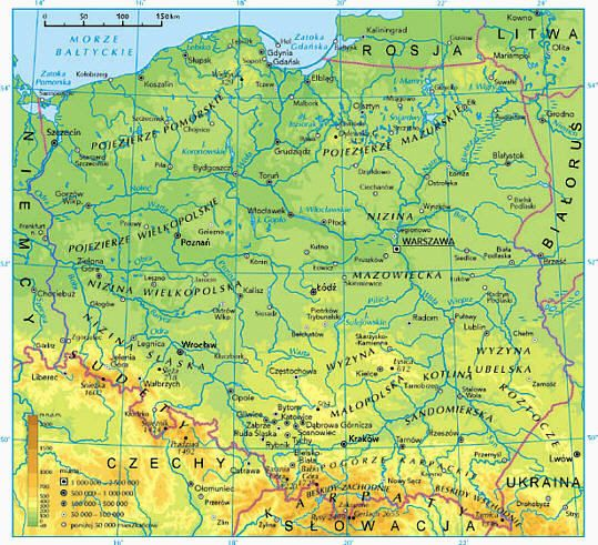 Mapa rzek Polski