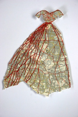 ℘ Paper Dress Prettiness ℘ art dress made of paper - Susan Stockwell