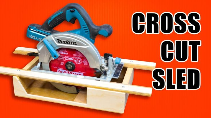 Portable Circular Saw CrossCut Sled.
