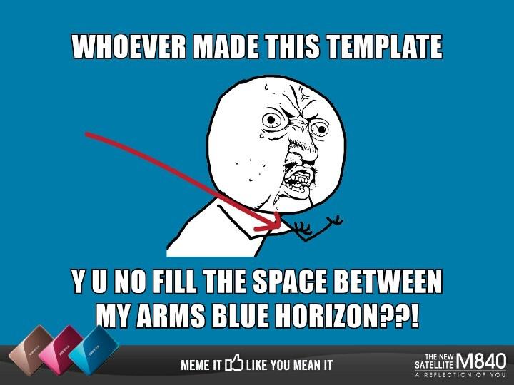 Y U NO (Blue Horizon)