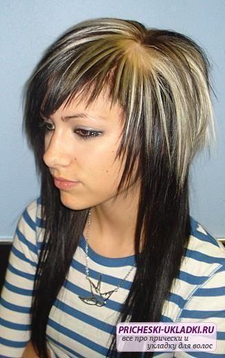 Стижка шапка на длинные волосы