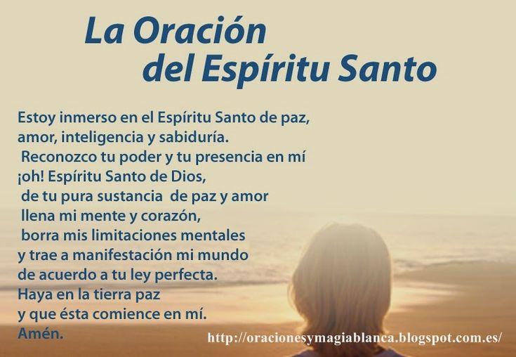 La Oracion al ESPIRITU SANTO