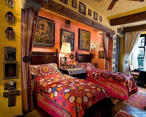 37 best mexican style bedroom images on pinterest - Mexican home decor ideas ...