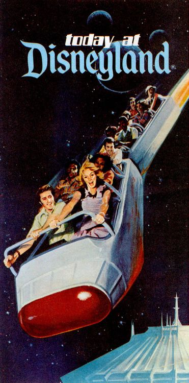 Space Mountain on the cover of the daily Disneyland flyer, 1978. Via Vintage Disneyland Tickets.