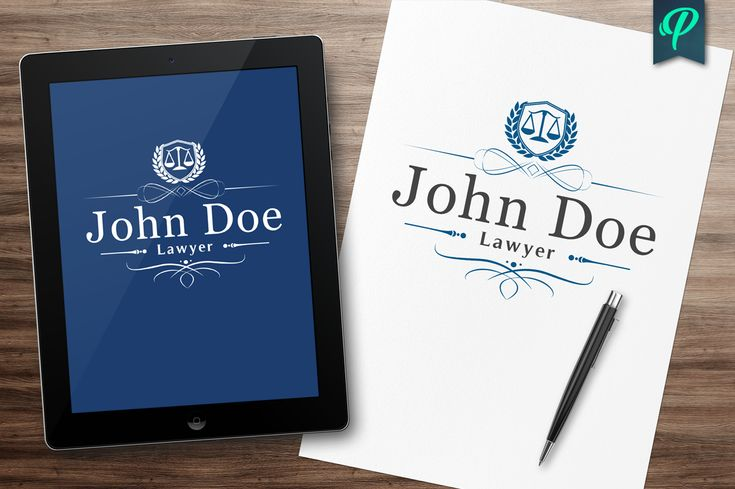 Lawyer, Attorney, Law Firm Logo by PenPal on @creativemarket