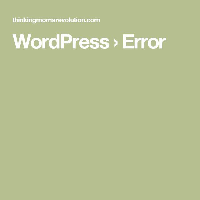 WordPress › Error